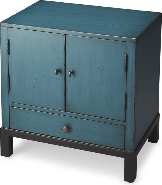 Superb Butler Courtland Distressed Blue Accent Cabinet Transitional Accent  Chests And Cabinets