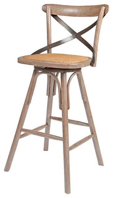 Vintage Style Crossback Counter Stool