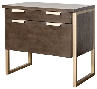 Lateral File Cabinet, Dark Mocha Finish - Contemporary - Filing Cabinets - by ShopLadder