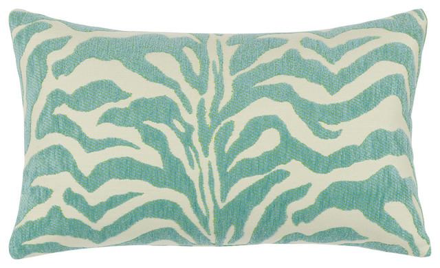 Modern Outdoor Lumbar Pillows : Elaine Smith Zebra Mist Lumbar Pillow - Contemporary - Outdoor Cushions And Pillows - by Elaine ...