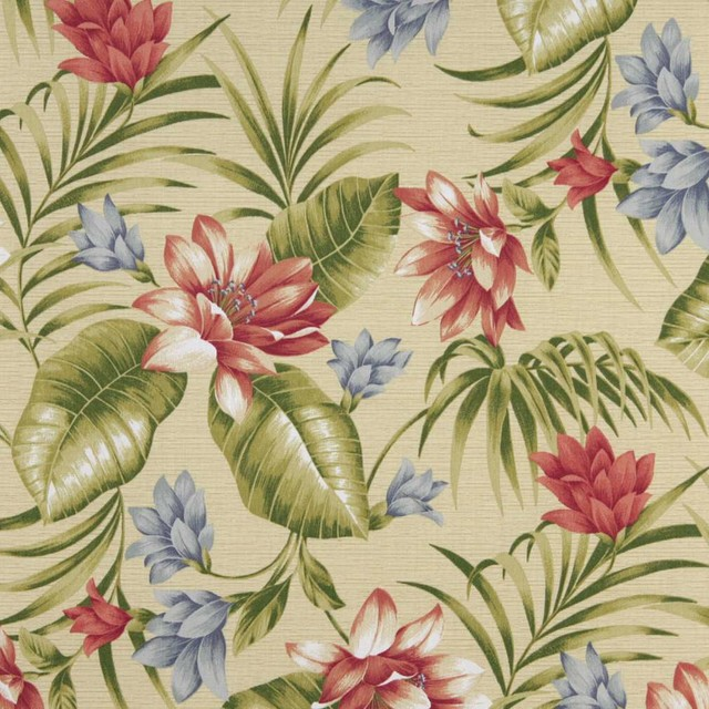 Green Pink Blue And Yellow Fl Outdoor Marine Upholstery Fabric By The Yard Tropical Palazzo Fabrics
