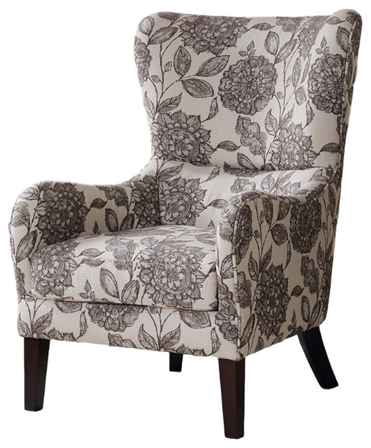 Arianna Swoop Wing Chair Contemporary Armchairs And