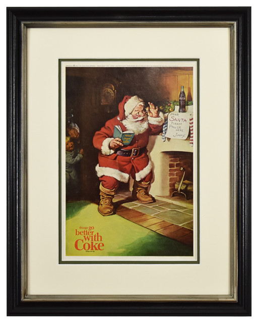 Wall Art Canvas Picture Print of  Classic Coca Cola  Framed  Ready to Hang