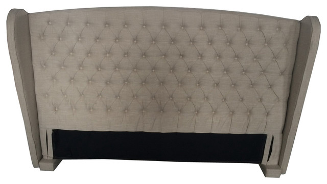 Denise Austin Home Lille King/ California King Tufted Fabric Wingback  Headboard contemporary-headboards - Denise Austin Home Lille King/ California King Tufted Fabric
