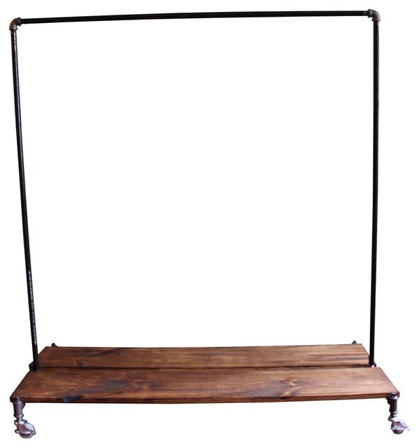 monroe trades 4u0027 clothing rack with distressed wood platforms clothes racks