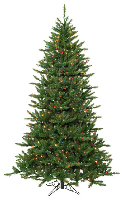Pre-Lit Frasier Fir Artificial Christmas Tree and Rolling Stand ...