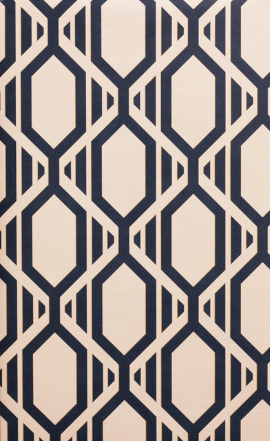 Navy Blue And White Geometric Wallpaper Bolt