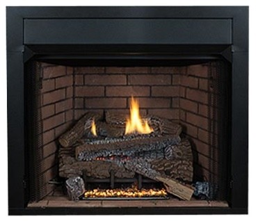 """30"""" Aspen Whisper Logs, Double Burner And Variable Flame Remote, Natural Gas"""
