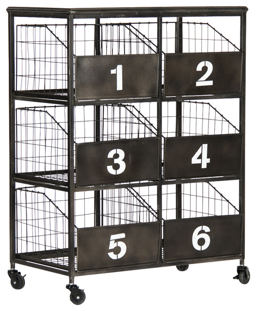 High Quality Ebony Basket Cart Industrial Office Carts And Stands