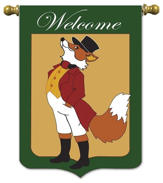 Garden Snooty Fox Flags And Flagpoles By New And Exciting Dicksons And Jozie B