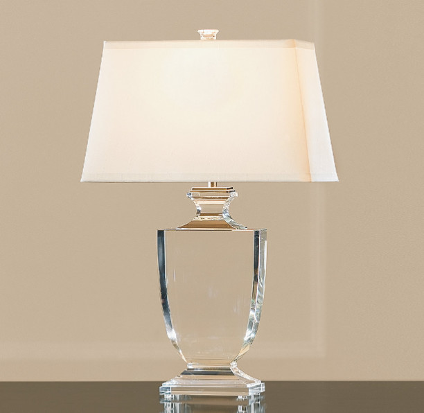 Table Lamps Crystals On Palladian Crystal Urn Lamp Traditional By