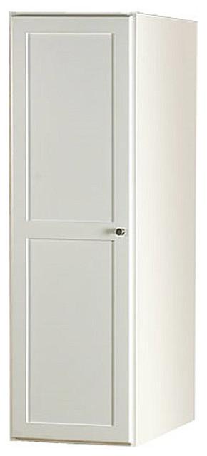 """Ronbow Essentials Shaker 15"""" Bathroom Linen Cabinet Storage Tower, White."""