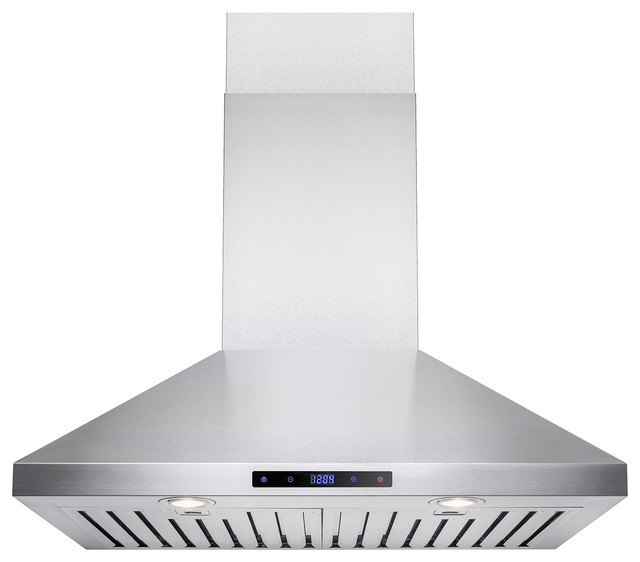 Akdy 30 Stainless Steel Wall Mount Range Hood, Ducted.