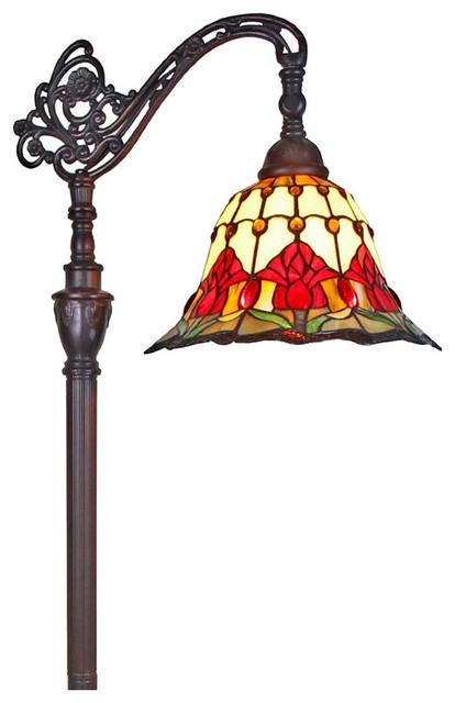 Amora Lighting Tiffany Style Tulips Reading Floor Lamp 62.