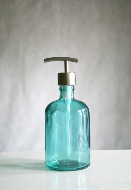 Rail19 Recycled Glass Soap Dispensers mediterranean-bathroom-accessories