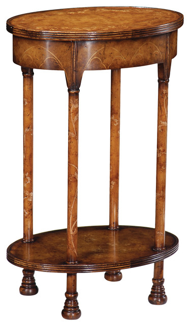 Jonathan charles gothicwalnut oval lamp table 493249 traditional jonathan charles gothicwalnut oval lamp table 493249 aloadofball Images
