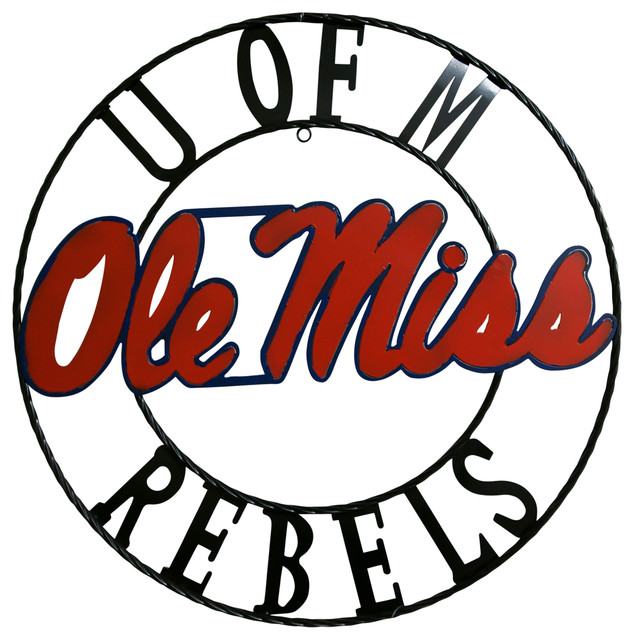 Ole Miss Rebels Wrought Iron Wall D?cor - Contemporary ...