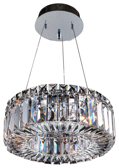 Rondelle 3-Light Pendants, Chrome.
