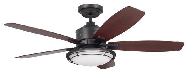 """Emerson Fans Rockpointe Oil Rubbed Bronze 54"""" Ceiling Fan."""