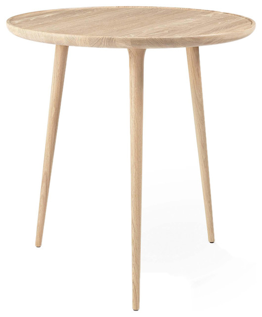 Mater Accent Mid Century Modern Cafe Table Oak