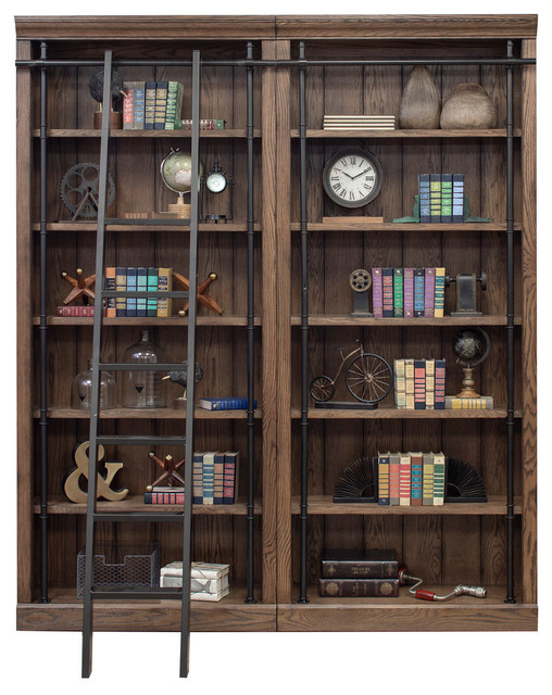 competitive price 94c14 14e4b Avondale 2 Wall Bookcase With Ladder, Oak