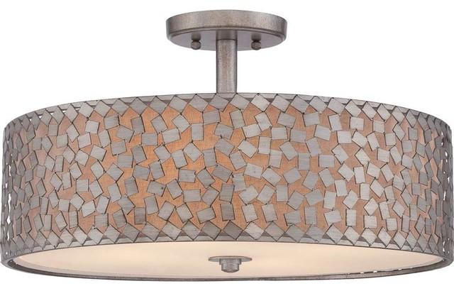 Quoizel Ckcf1720os Confetti Semi-Flush Mount In Old Silver.