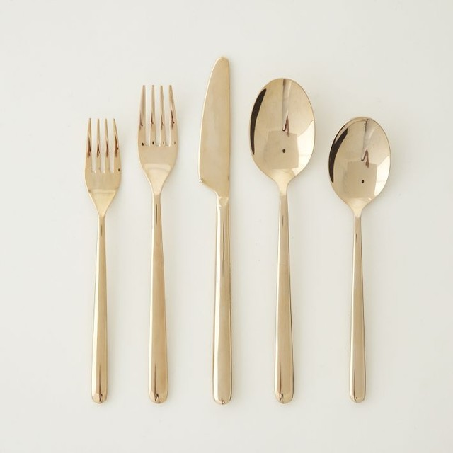 Rose Gold Flatware, Set of 5