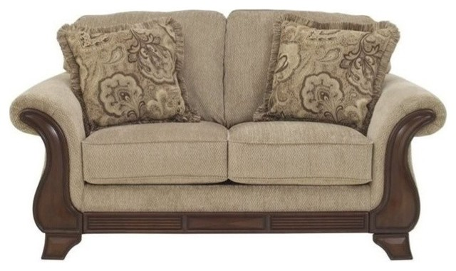 Ashley Lanett Fabric Loveseat Barley Loveseats By Homesquare