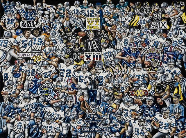 Dallas Cowboys Wall Art dallas cowboys tribute - nfl football fan art - contemporary