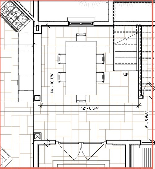 Need help for small dining room design for Table size for 12x12 dining room