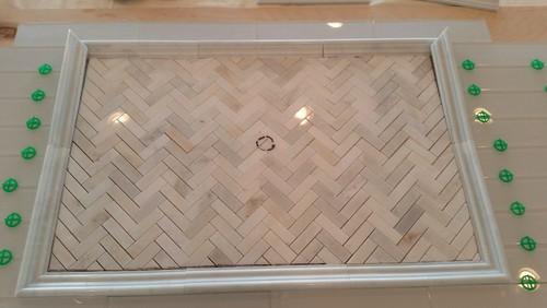 Kitchen Backsplash Subway Tile With Accent
