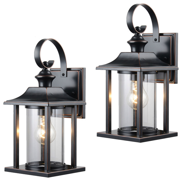 Oil Rubbed Bronze Outdoor Patio Exterior Light, Set of 2, 23-0582 ...