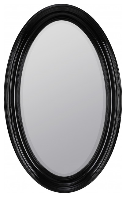 black oval bathroom mirror kincourt glossy black oval mirror traditional bathroom 17412