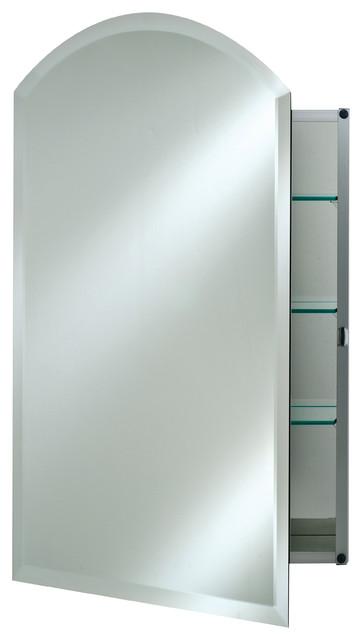Afina Corporation Arch Top Frameless Medicine Cabinets For