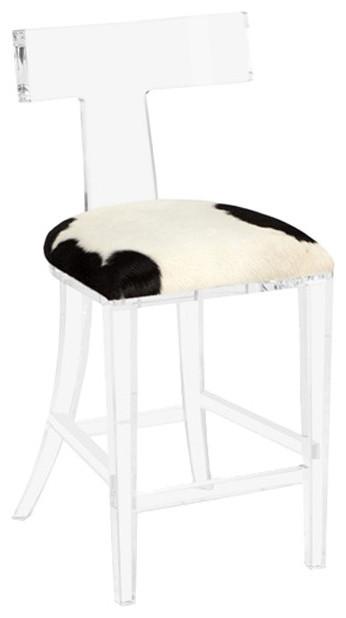 Marvelous Interlude Home Tristan Klismos Hide Counter Stool Inzonedesignstudio Interior Chair Design Inzonedesignstudiocom