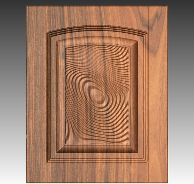 Arch 3D relief cabinet raised panel 4203