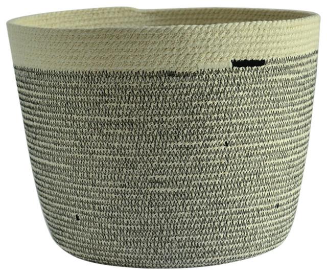 Blonte Black Cotton Storage Basket