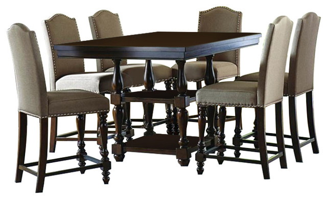 Homelegance Benwick 7 Piece Counter Height Table Set With