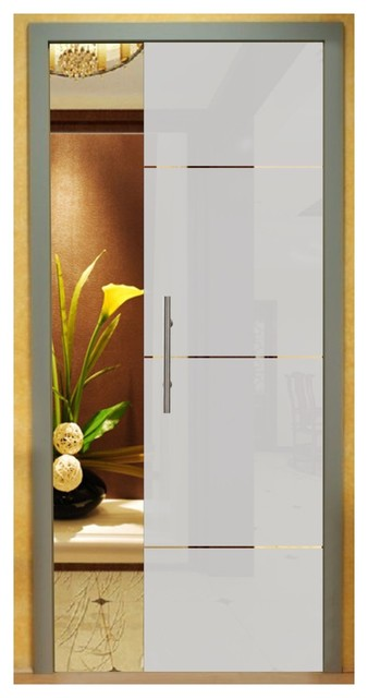 reputable site 3687e c9037 Frameless Pocket Glass Sliding Door With Frosted Stripes Design, 28