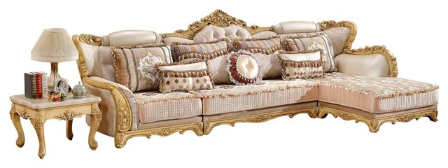 Lorenzo 3 Piece Sectional Victorian Sectional Sofas