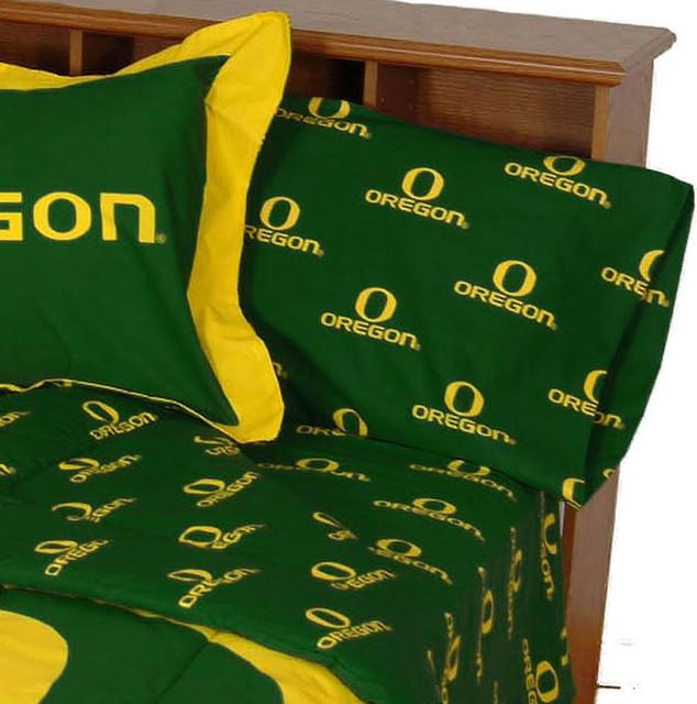 NCAA Oregon Ducks Collegiate Green Twin Bed Sheets