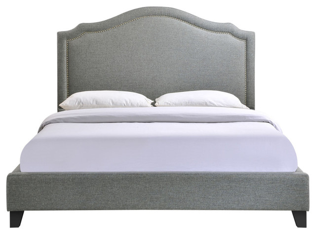 Charlotte Queen Bed, Gray.