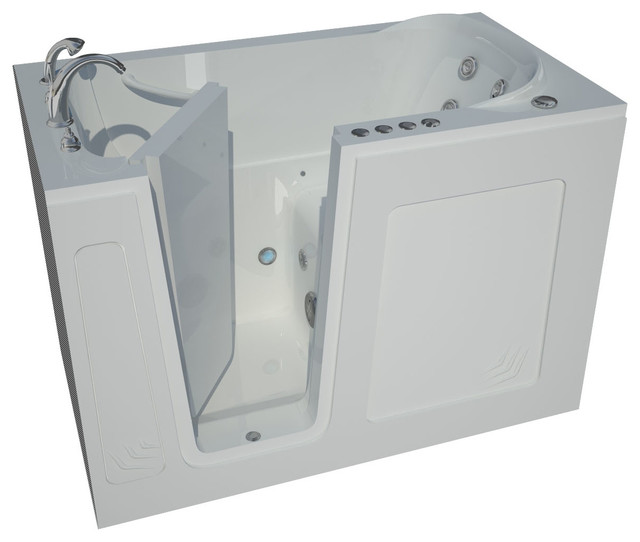 30 X 54 White Walk-in Bathtub With Whirlpool Jetted & Air