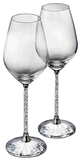 ed192308715 Wine Glasses With Crystal-Filled Stems