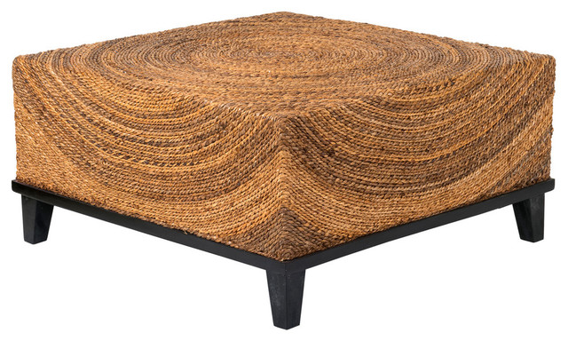 Awesome East At Main   East At Mainu0027s Chickasaw Brown Abaca Square Coffee Table   Coffee  Tables
