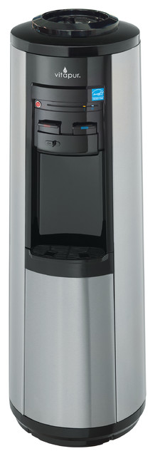 Top Load Floor Standing Water Dispenser (hot, Room And Cold) Stainless Steel.