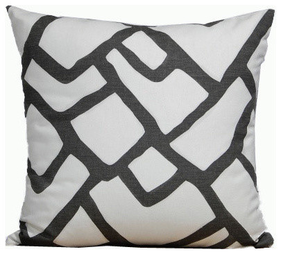 Hand Drawn Lines Print Linen Pillow.