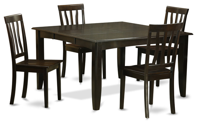 transitional dining room sets east west furniture pfan cap kitchen table set view in 22413