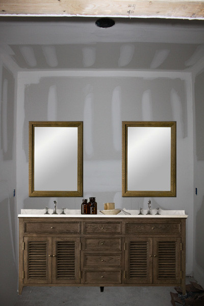 Bathroom Mirrors Over Vanity one large mirror or two individual mirrors over double vanity?