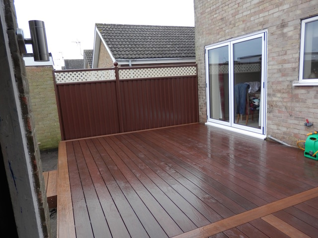 Composite decking for a back garden renovation modern for Decking for back garden